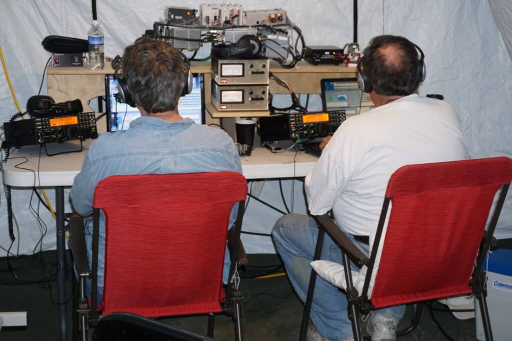 HAM Radio Tent Emergency Simulation