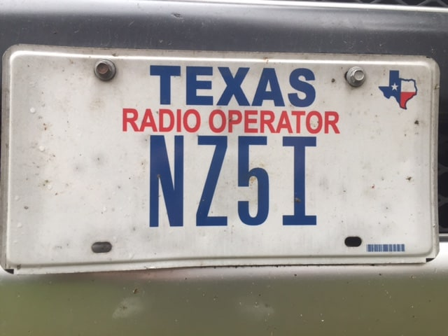 HAM Radio License Plate Auto